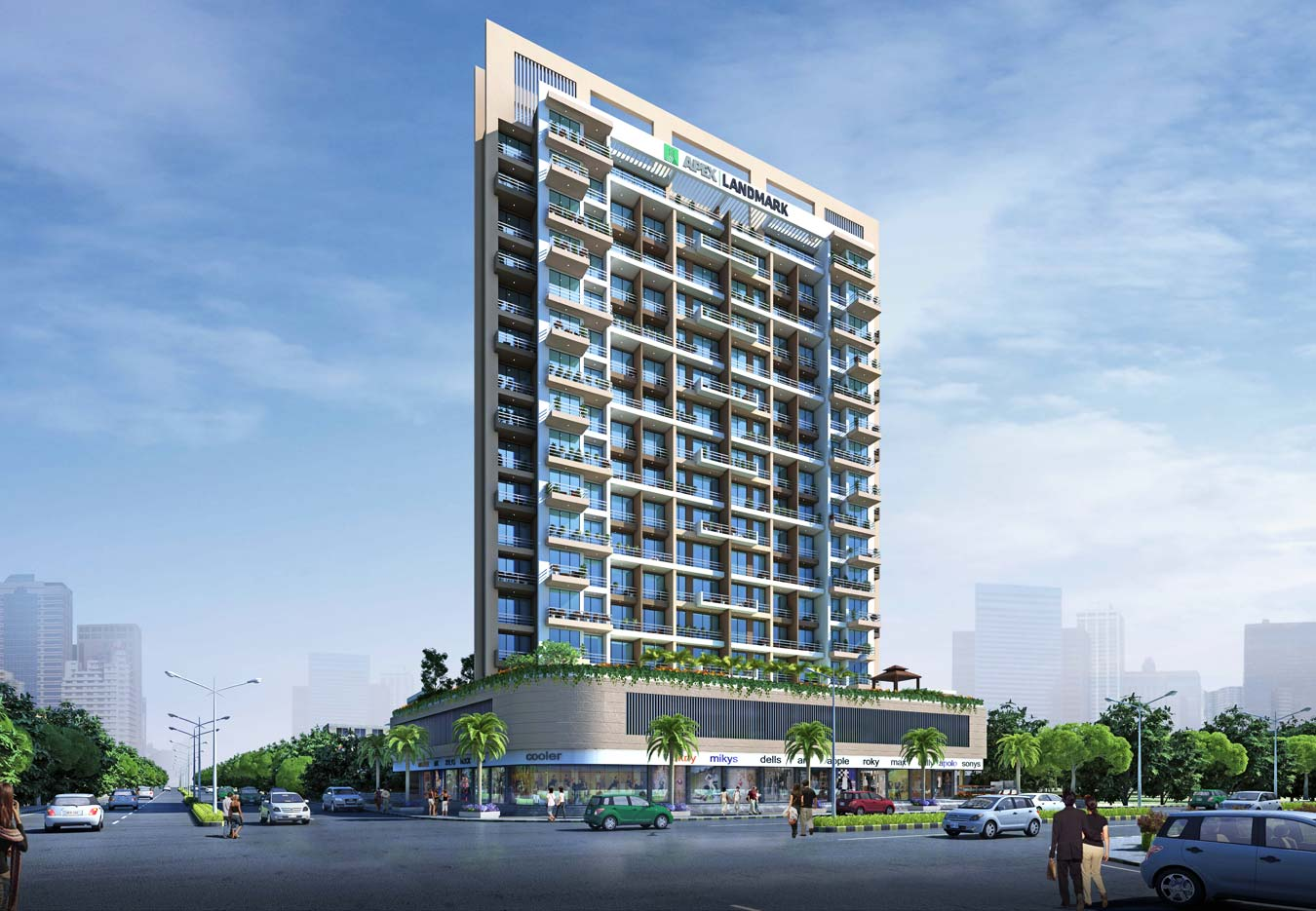 Apex Landmark in Dronagiri. New Residential Projects for Buy in Dronagiri hindustanproperty.com.
