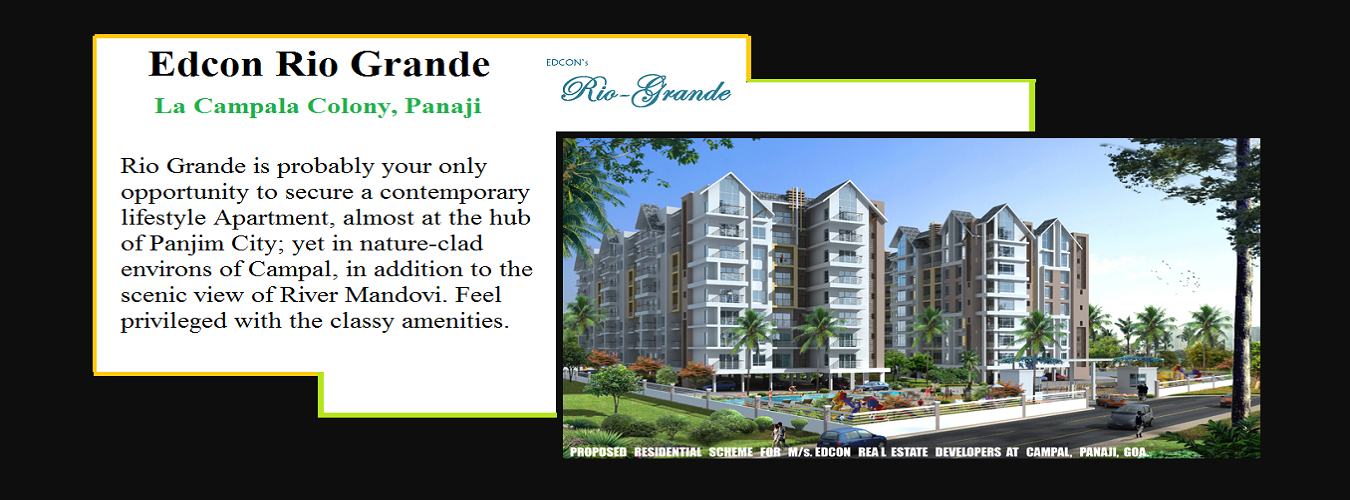 Edcon Rio Grande in Panjim. New Residential Projects for Buy in Panjim hindustanproperty.com.