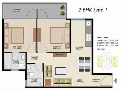 residential apartment, delhi-ncr, sector-102, image