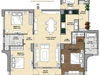 residential apartment, delhi-ncr, sector-63, image