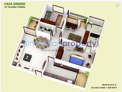 residential apartment, indore, talawali chanda, image