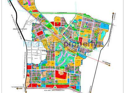 residential land, lucknow, sushant golf city, image