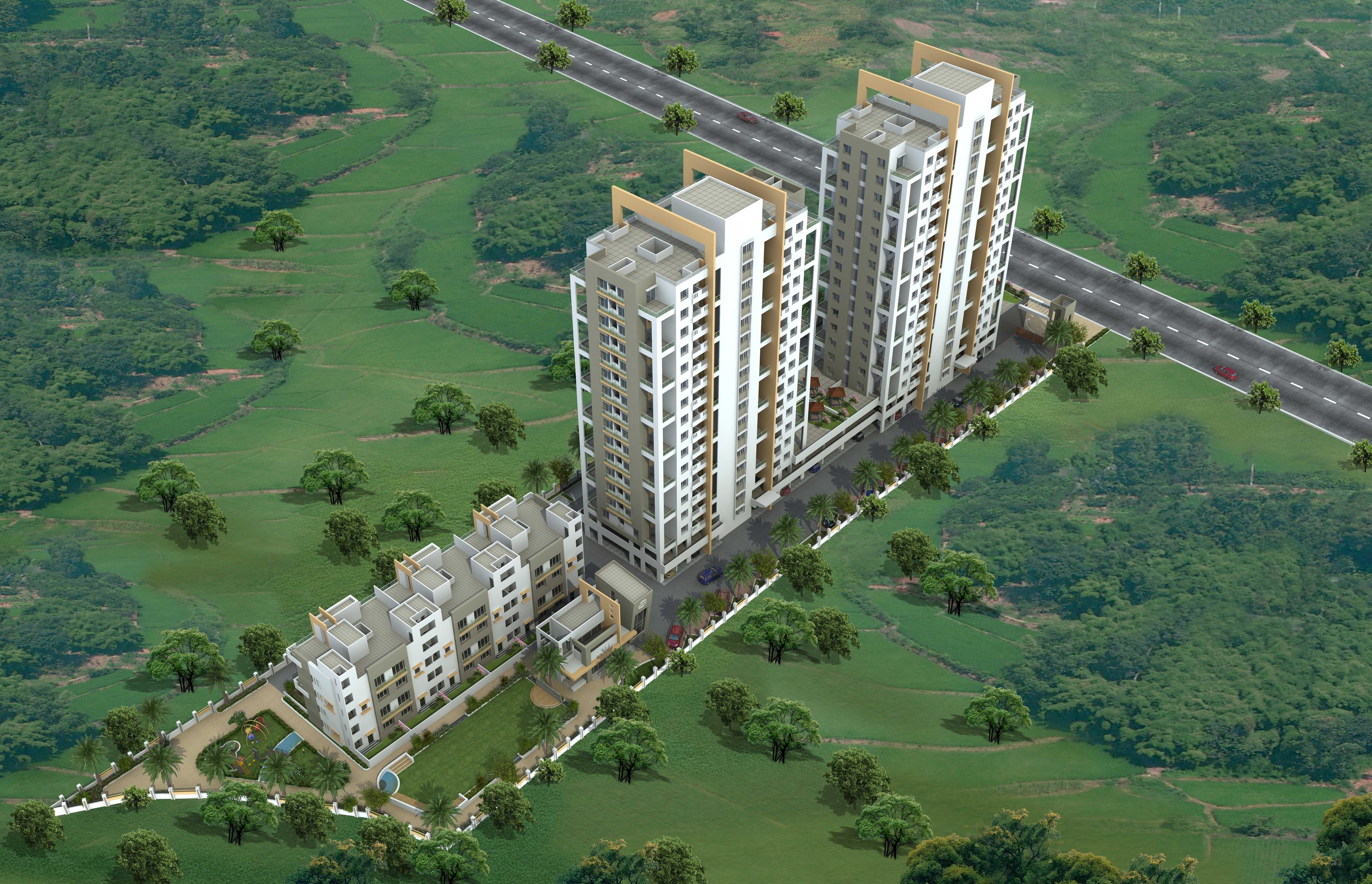 residential apartment, pune, magarpatta, image