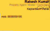 Rakesh Kumar in Patna. Property Dealer in Patna at hindustanproperty.com.