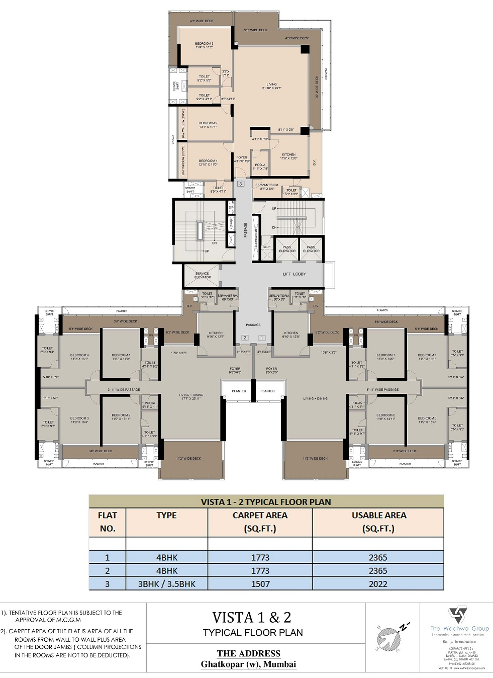 Wadhwa the address ghatkopar west rates brochure for Floor plans by address